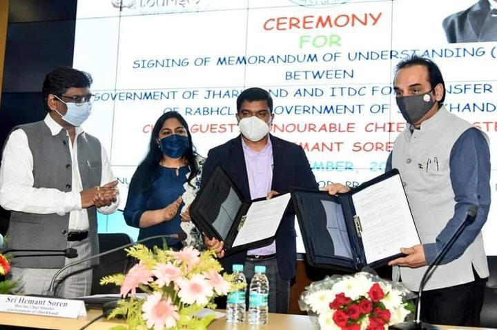 भारत पर्यटन विकास निगम और झारखंड सरकार के बीच एमओयू